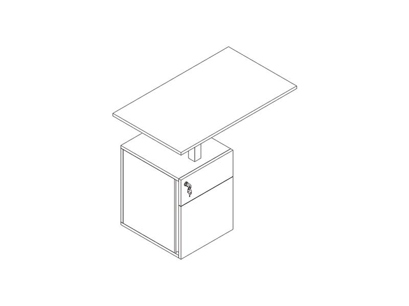 extension-pedestal-distanciador-doble-1cajon-1fichero